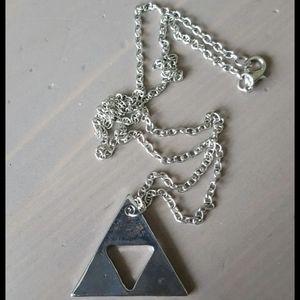 Jewelry - Zelda triforce necklace gamer geekery